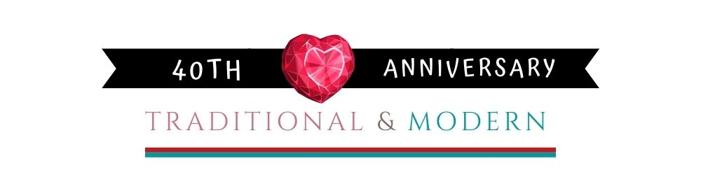 Banner Image of 40th Anniversary Traditional & Modern Gift Ideas