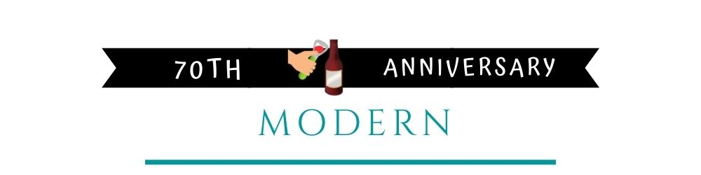 Banner Image of 70th Anniversary Modern Gift Ideas
