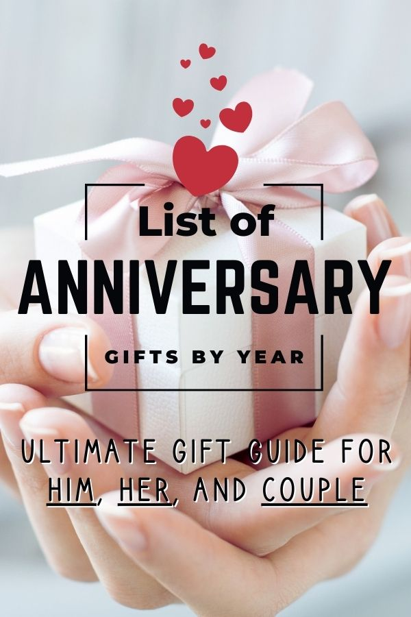 List of Anniversary Gifts By year Featured Image