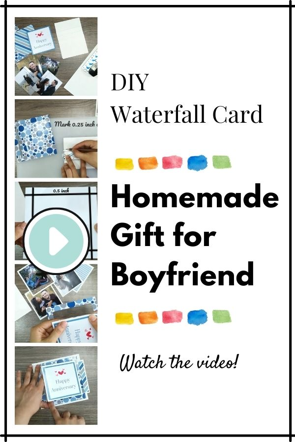 Featured Image for DIY Waterfall Card - Homemade Gift for Boyfriend