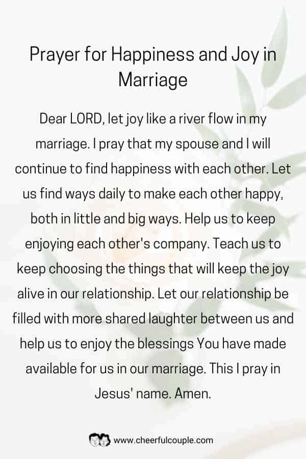 Download Image of Prayer for Happiness and Joy in Marriage