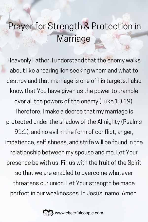Image of Prayer for Strength & Protection in Marriage