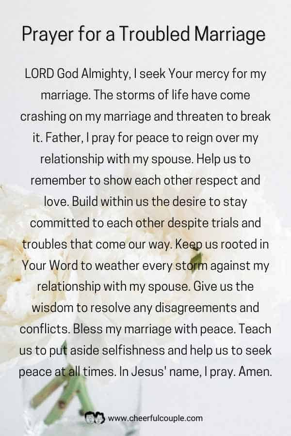 Image of Prayer for a Troubled Marriage