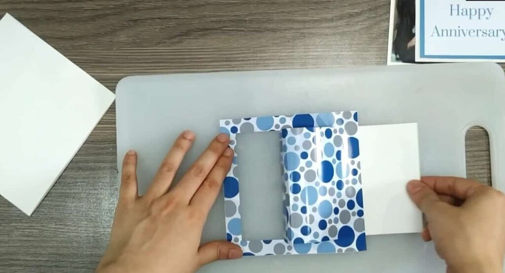 Creating the Waterfall Card Frame and Flap: Image of Step 7