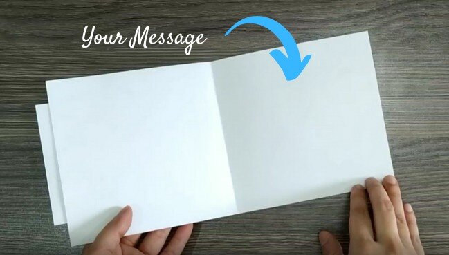 Assembling the Card: Image of Step 2 Put Your Message